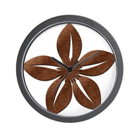 Chic Copper Jasmine Flower Wall Clock