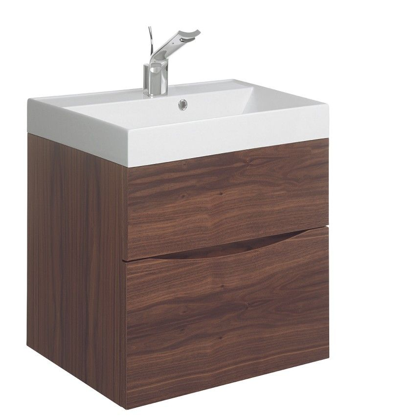 Glide II 50 Unit & Basin American Walnut in Bauhaus