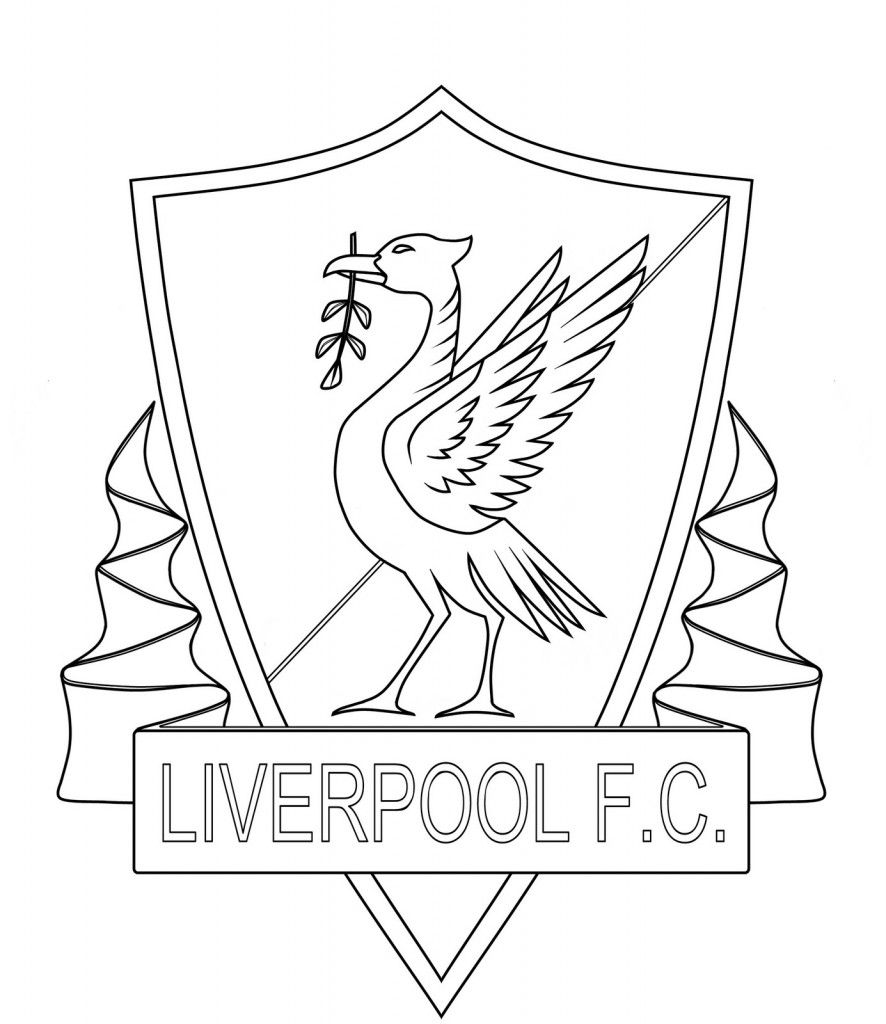 english soccer liverpool futbol for coloring pages kids