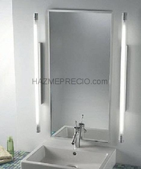 Reforma integral de ba os aplique moderno iluminacion para espejo de ba o tipo fluorescente - Iluminacion espejos bano ...
