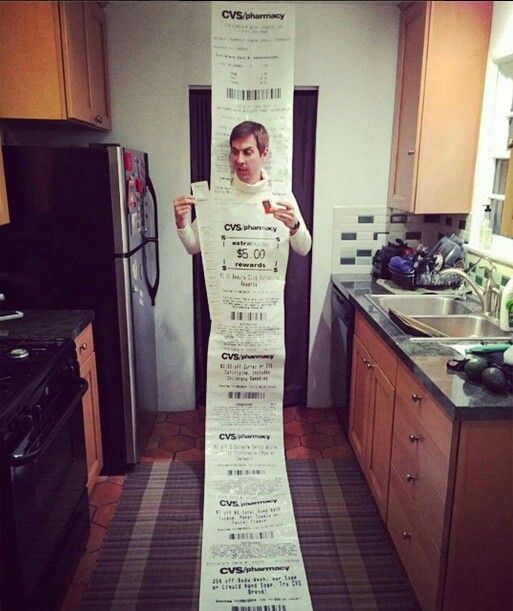 Long Receipt From Cvs Even If You 1 Item Halloween & Cvs Pharmacy Halloween Costumes | Cartoonview.co