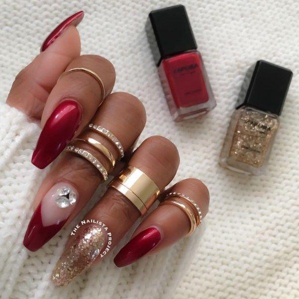 54 Valentines Day Nail Design And Nail Art Ideas Nails Pinterest