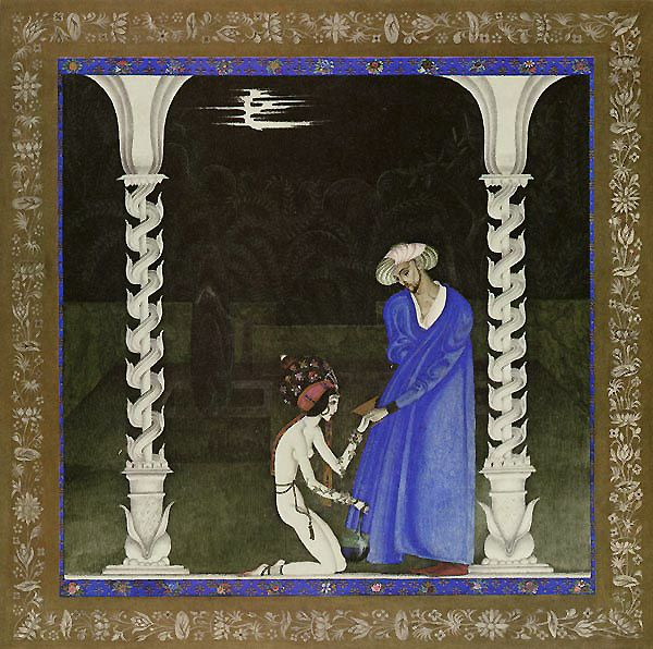 """Kay Nielsen - Illustrations for """"Arabian Nights"""": The Tale of the Young Thief"""