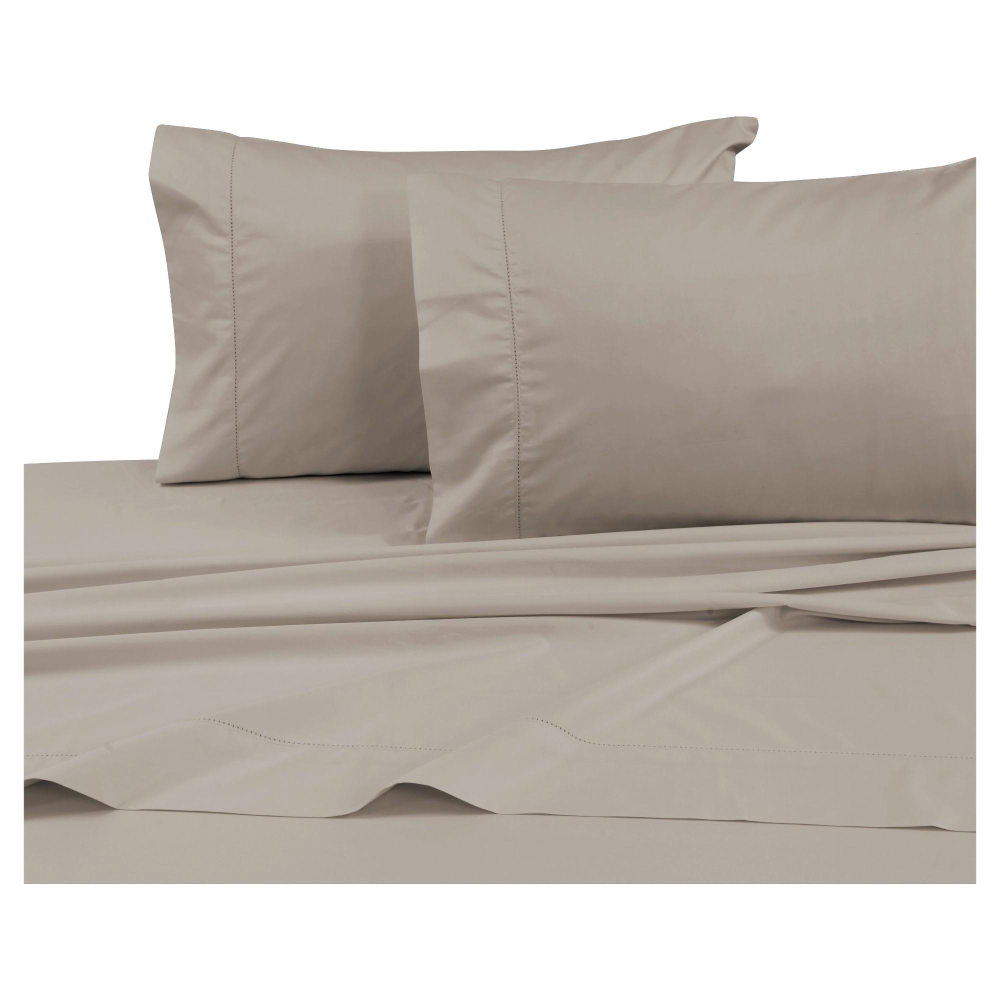 Cotton sateen deep pocket sheet set queen taupe 750