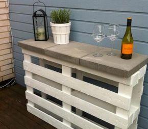 bar de jardin en palette bois pour le - Table De Jardin En Palette De Bois