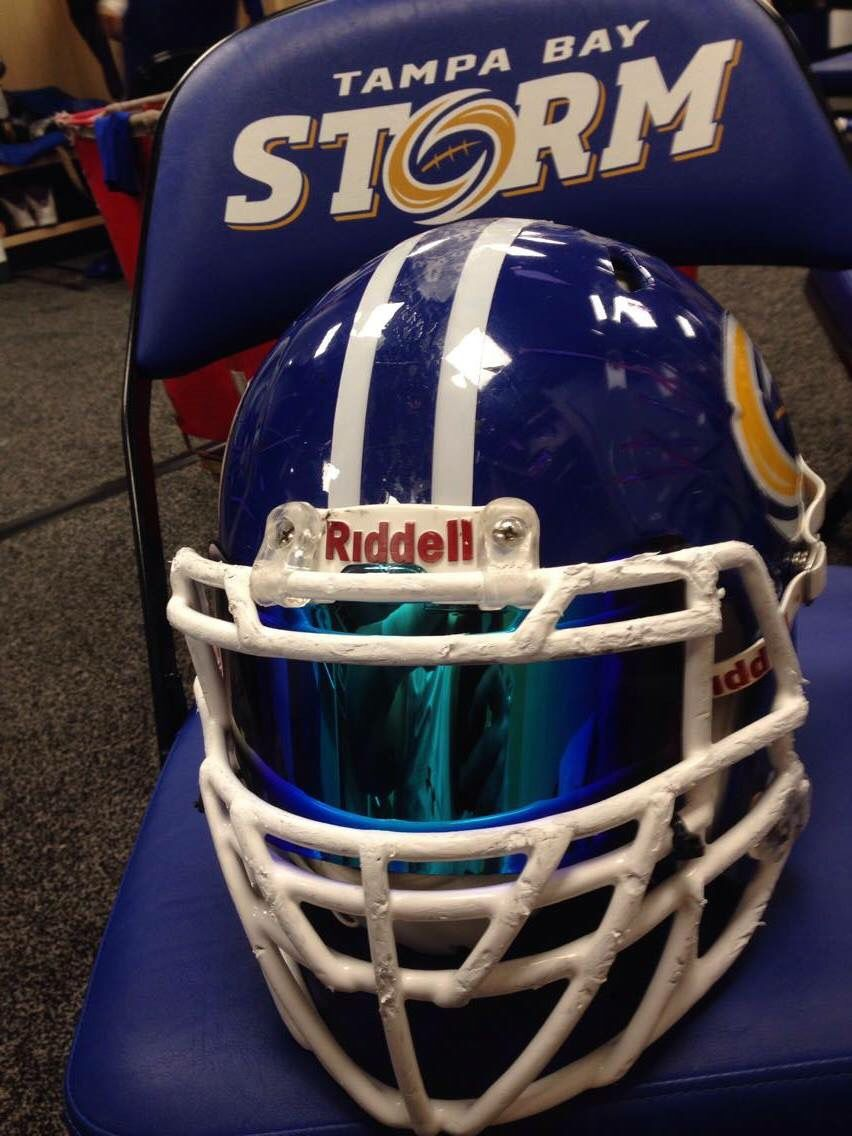 Afl tampa bay storm of the arena football league riddell