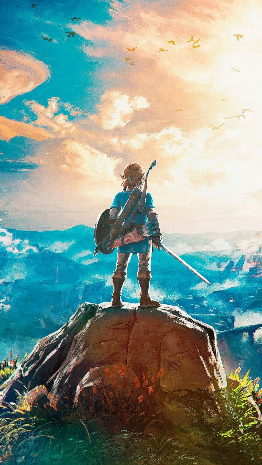 The Legend Of Zelda Breath Wild Mobile Wallpaper