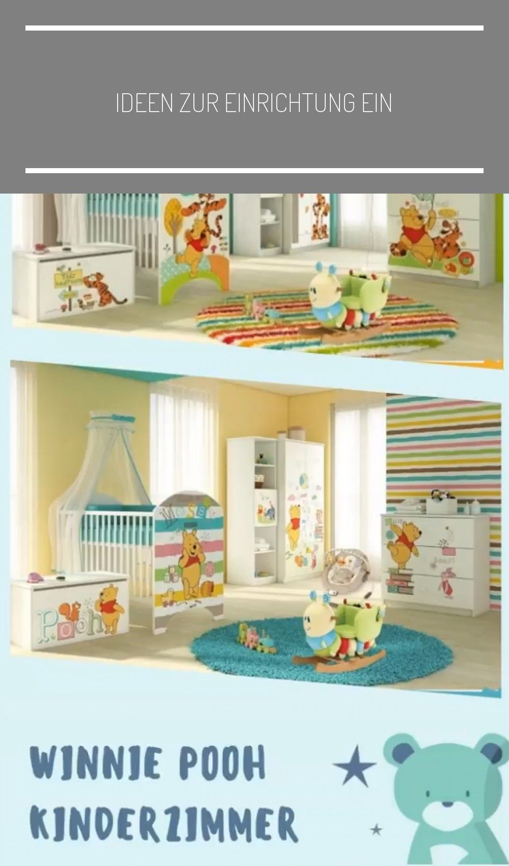 Ideen zur Einrichtung eines Winnie Pooh Kinderzimmers. Von