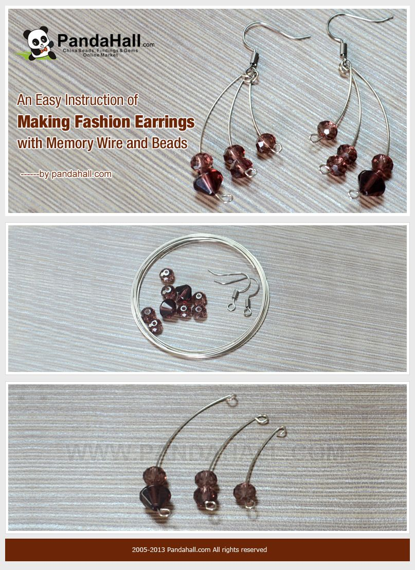 An Easy Instruction of Making Fashion Earrings with Memory Wire and ...