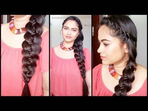 4 Strand Rope Twist Braid Easy Hairstyles For Medium To Long Hair Indian Hairstyles Youtube Long Hair Styles Easy Braids Easy Hairstyles