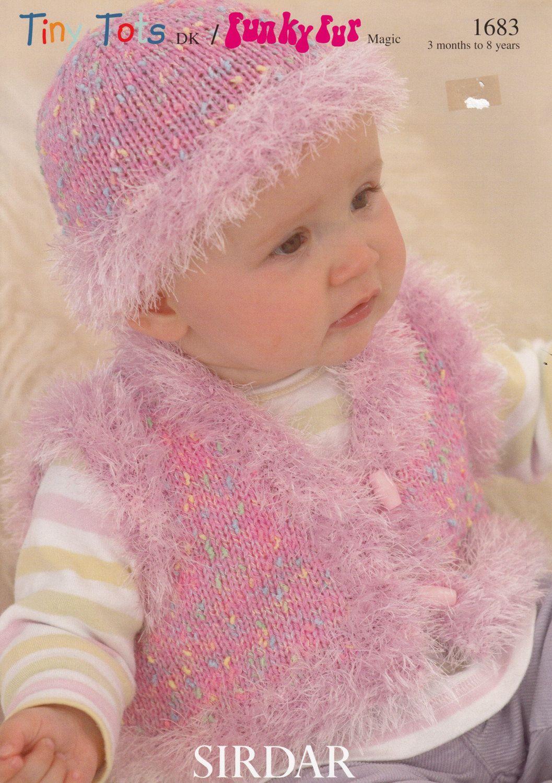 Baby waistcoat hat knitting pattern sirdar tiny tots funky fur baby waistcoat hat knitting pattern sirdar tiny tots funky fur magic knitting pattern bankloansurffo Choice Image
