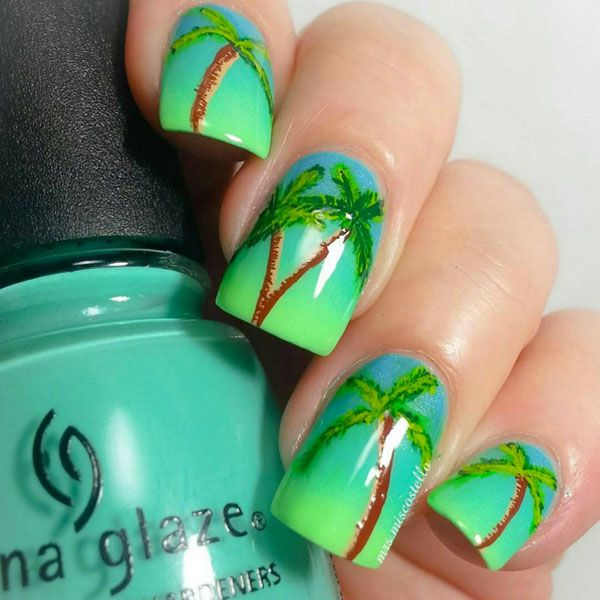 NPNailProdigy62316 | Tropical Nails | Pinterest