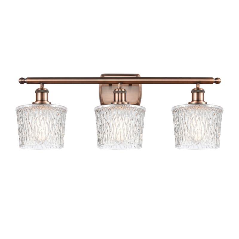 "Photo of Innovations Lighting 516-3W Niagra Niagra 3 Light 26 ""Wide Bathroom Basin Light Antique Copper / Clear Indoor Lighting Bathroom Lights Basin Light"