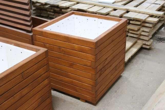 Donice Drewniane Na Wymiar Wysyłkadonice Ogrodowetarasowe