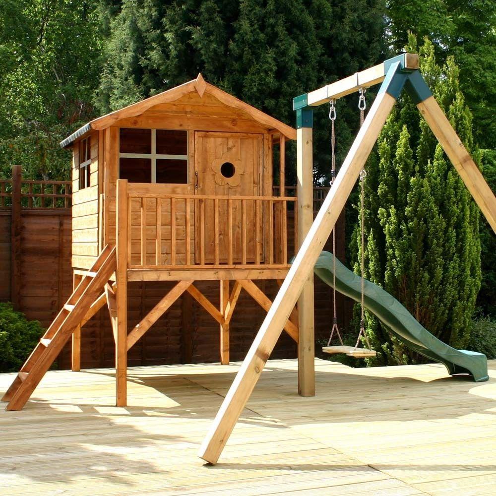 13 X 12 Ft 4 X 37m Childrens Wooden Garden Playhouse Tower