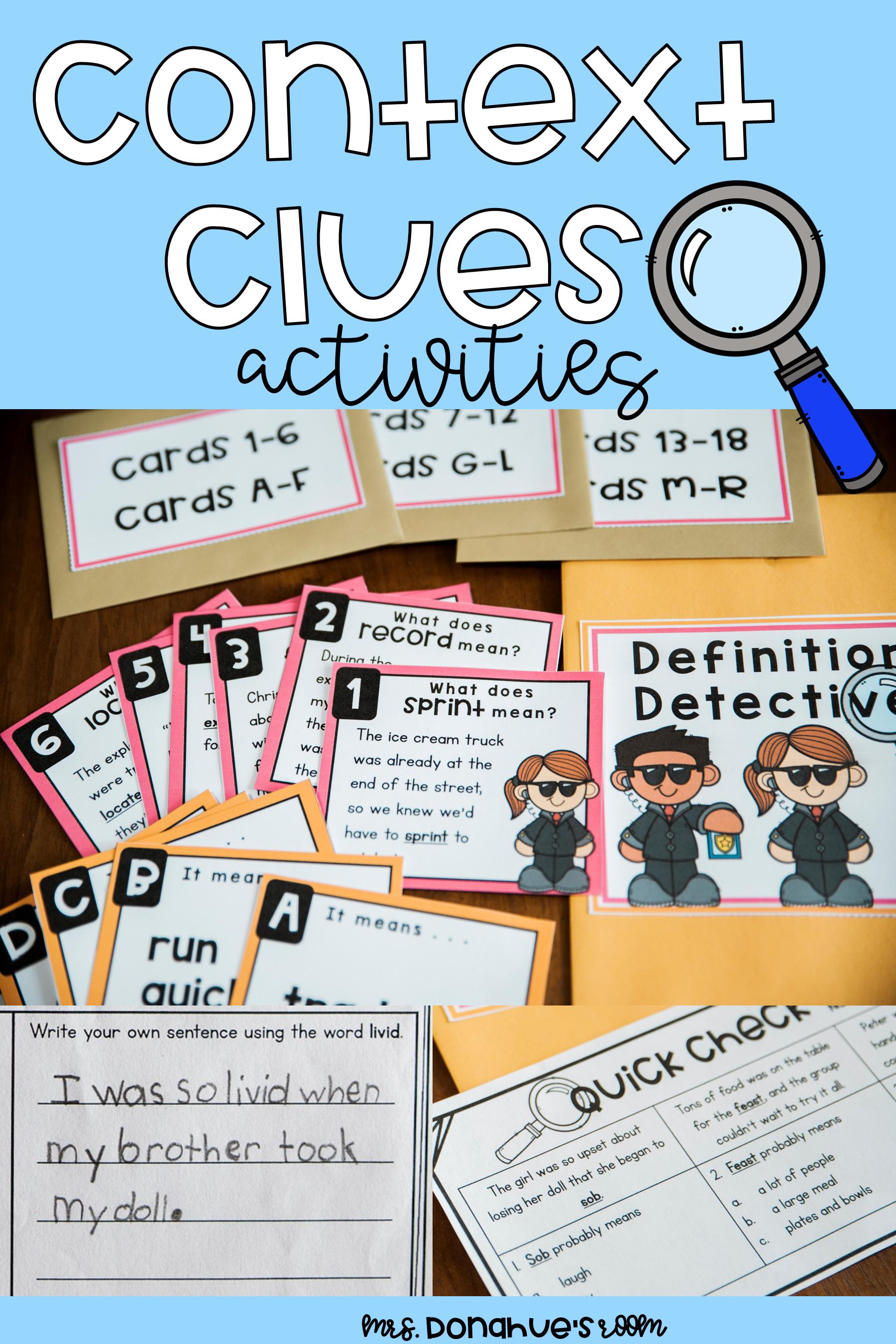 Context Clues Activities In