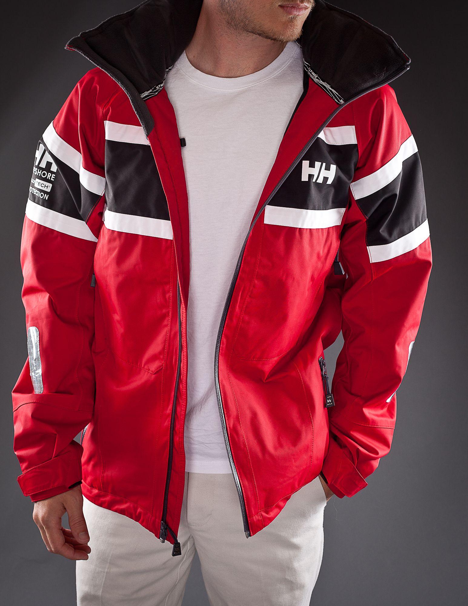 39d5006c16a Helly Hansen Salt Jacket Red front view unzipped | Dress code ...