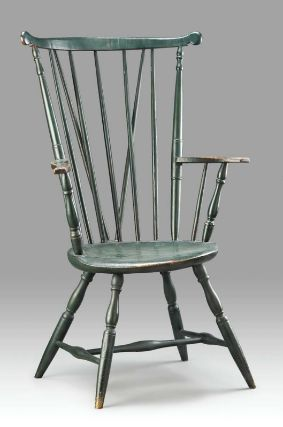 High Fan Back Windsor Armchair About 1745 54 Boston Area