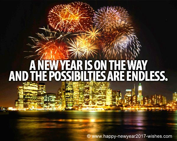 happy new year to you all make a positive change to your life and