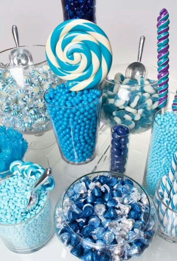 Blue And White Party Theme Blue Candy Buffet Candy Bar Wedding Wedding Candy