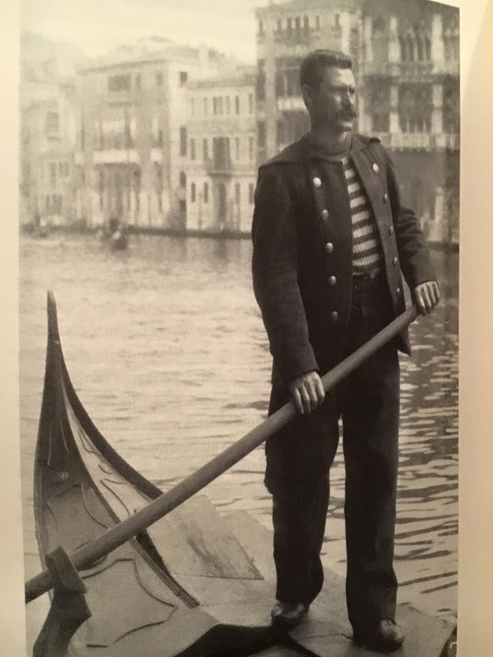 Gondoliere di fine 800. Venezia