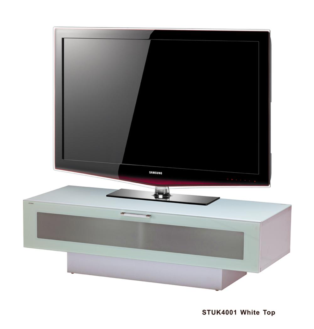 Stil Stand Low Height Gloss White Wooden TV Cabinet - STUK4001-1 ...