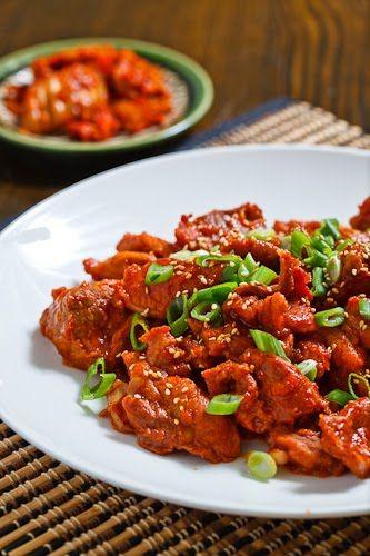 Daeji Bulgogi (Korean Spicy BBQ Pork) | Recipe | Pork ...
