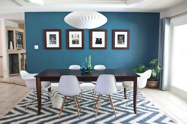 Bleu canard avec quelle couleur toutes nos id es pour - Couleur pour salon et salle a manger ...
