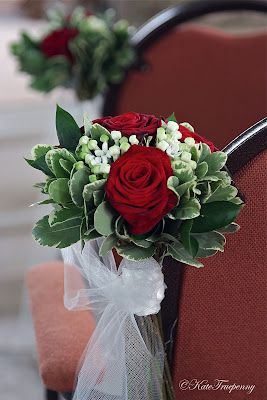 Claire's Red and White Wedding Flowers, Sarisbury Green Church – Boda fotos
