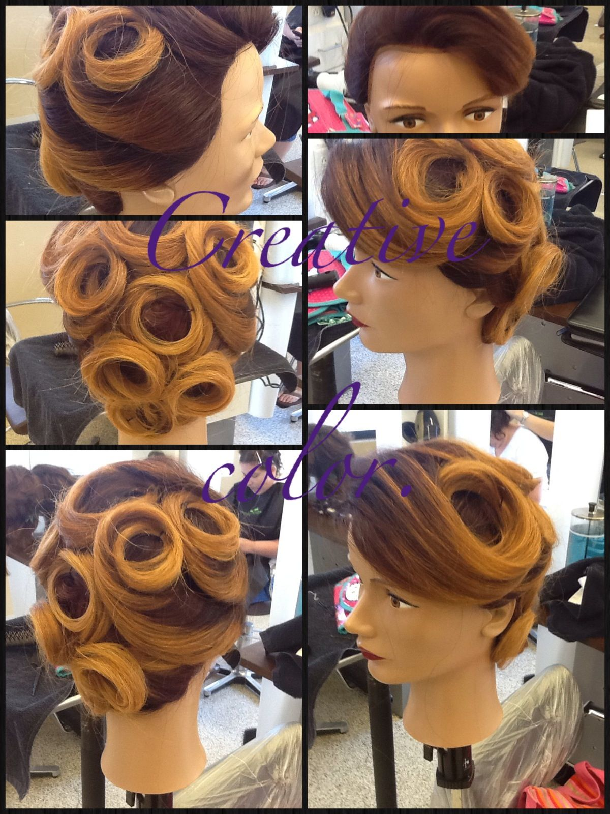 My creative color and updo that I\'d did for school. :) won the ...