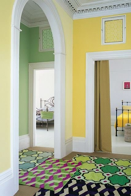Yellow | Stairs, Entry, Halls, Fireplaces & Libraries | Pinterest ...