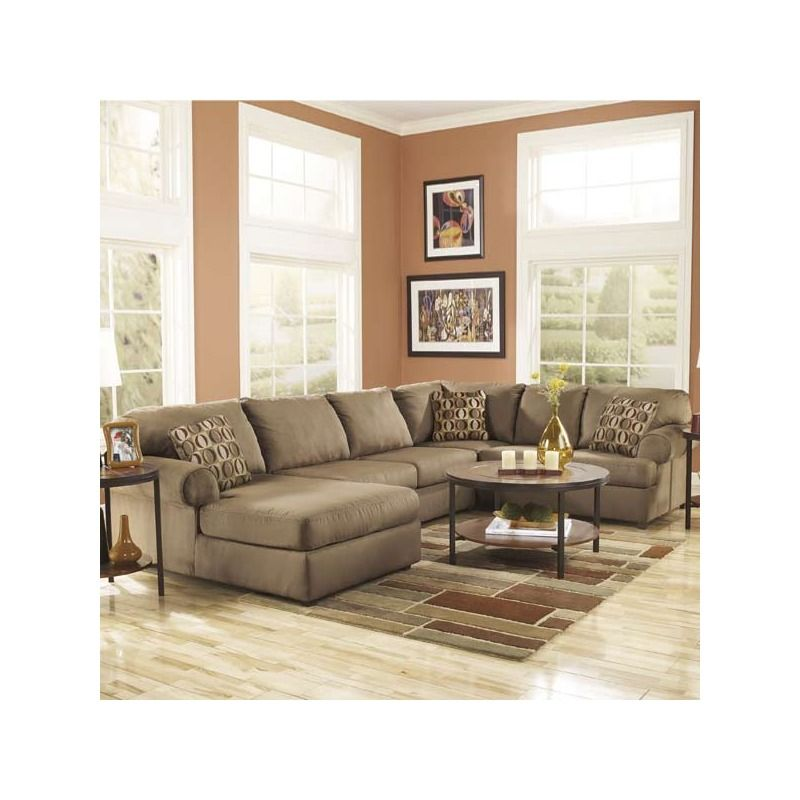 The Brandon Sectional From Ashley Furniture Is Built To Last With Solid  Hardwood Frames, Thick
