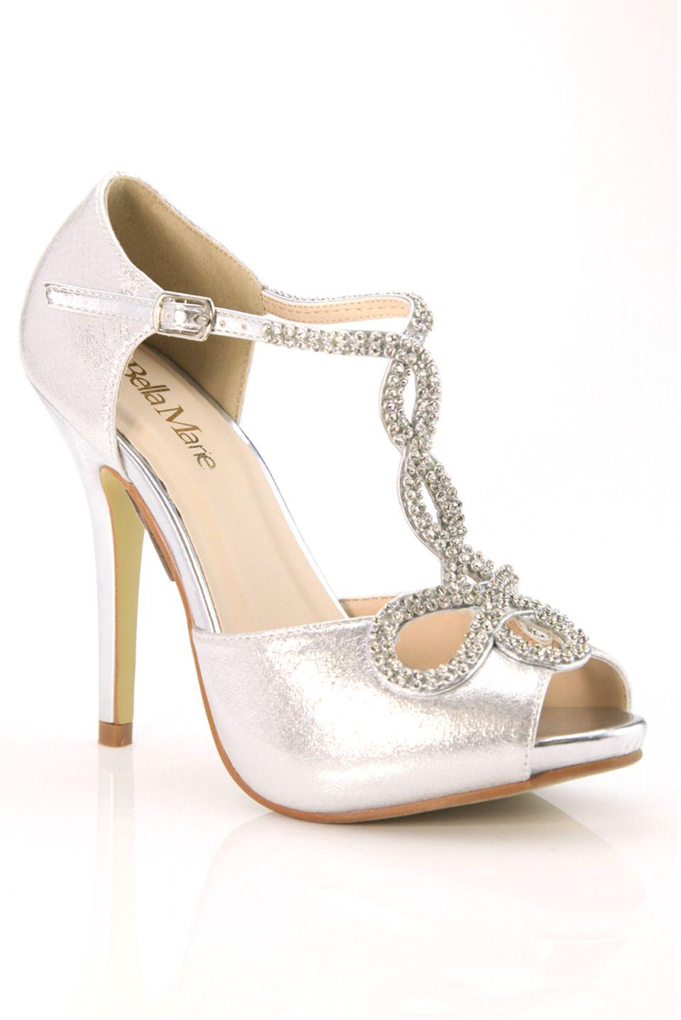 Bella marie soho10 rhinestone chain embellished heel in