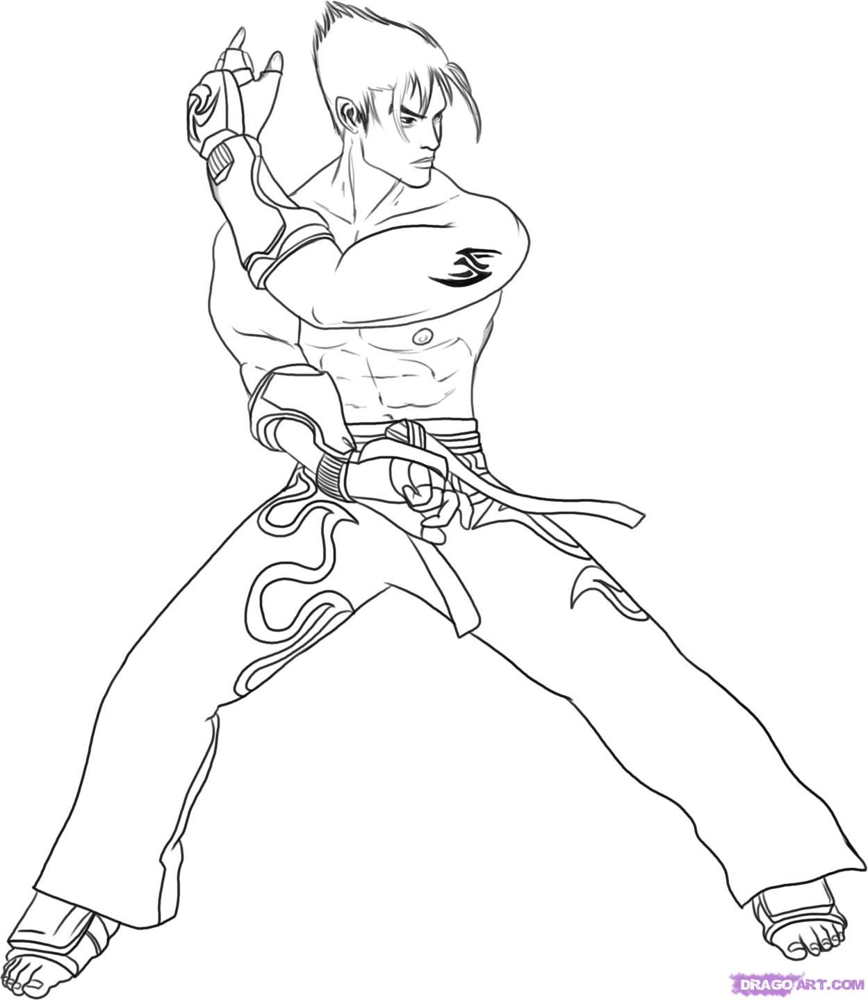 Tekken Jin Coloring Pages