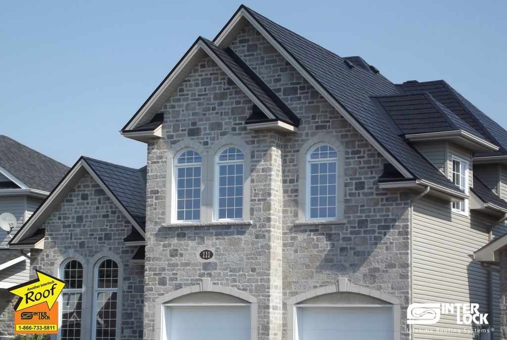 Ontario Canada No Roof Shape Is Too Complicated For Interlock Roofing Our Trims And Components Make Every Roof Look Beau Roof Design Roof Shapes Metal Roof