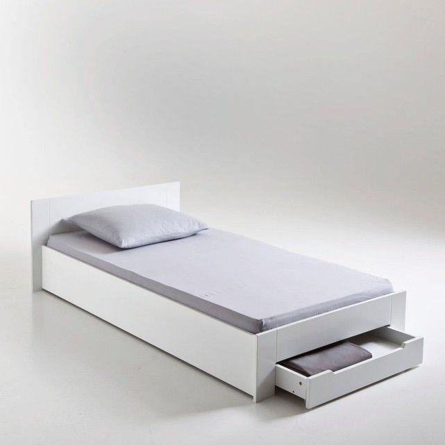 Lit 1 Personne Avec Sommier Et Tiroir Crawley Single Bed Bed