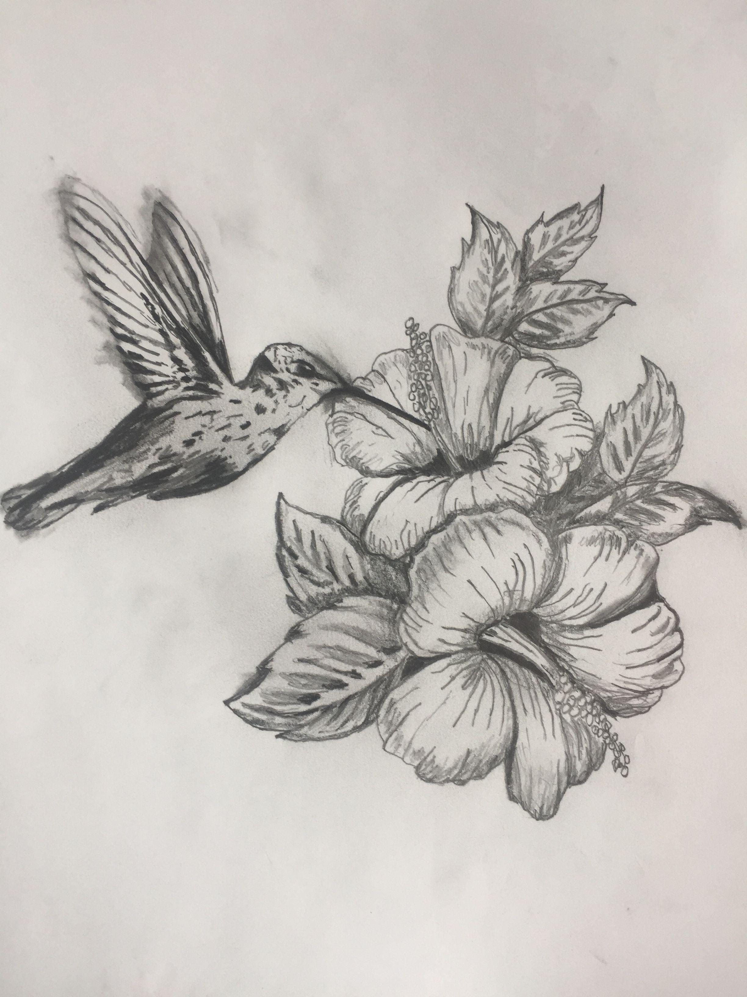 Drawing For Tattoo To Honor My Mom Hummingbird Hibiscus Flower Tattoo Shoulder Hummingbird Tattoo Hummingbird Flower Tattoos