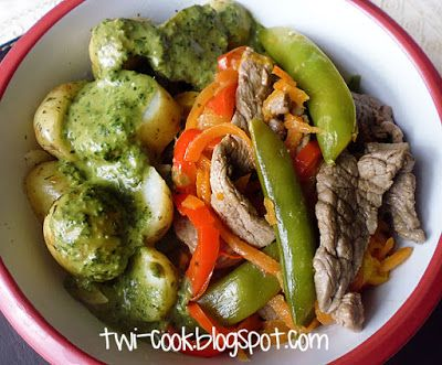 The Way I Cook: Beef and Vegetables with Herb Pesto