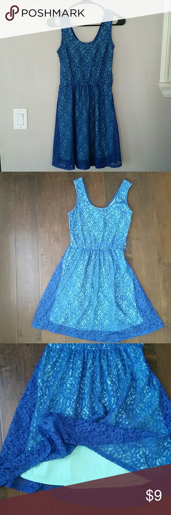 Lace Blue Dress Royal Blue Lace Over A Sea Foam Green Liner