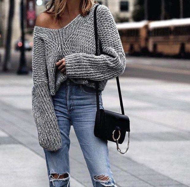 Moda di strada e maglioni oversize