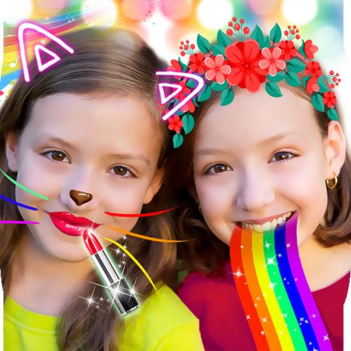 Crazy Rainbow Selfie Lense Camera Girl Makeup Cam Dress U