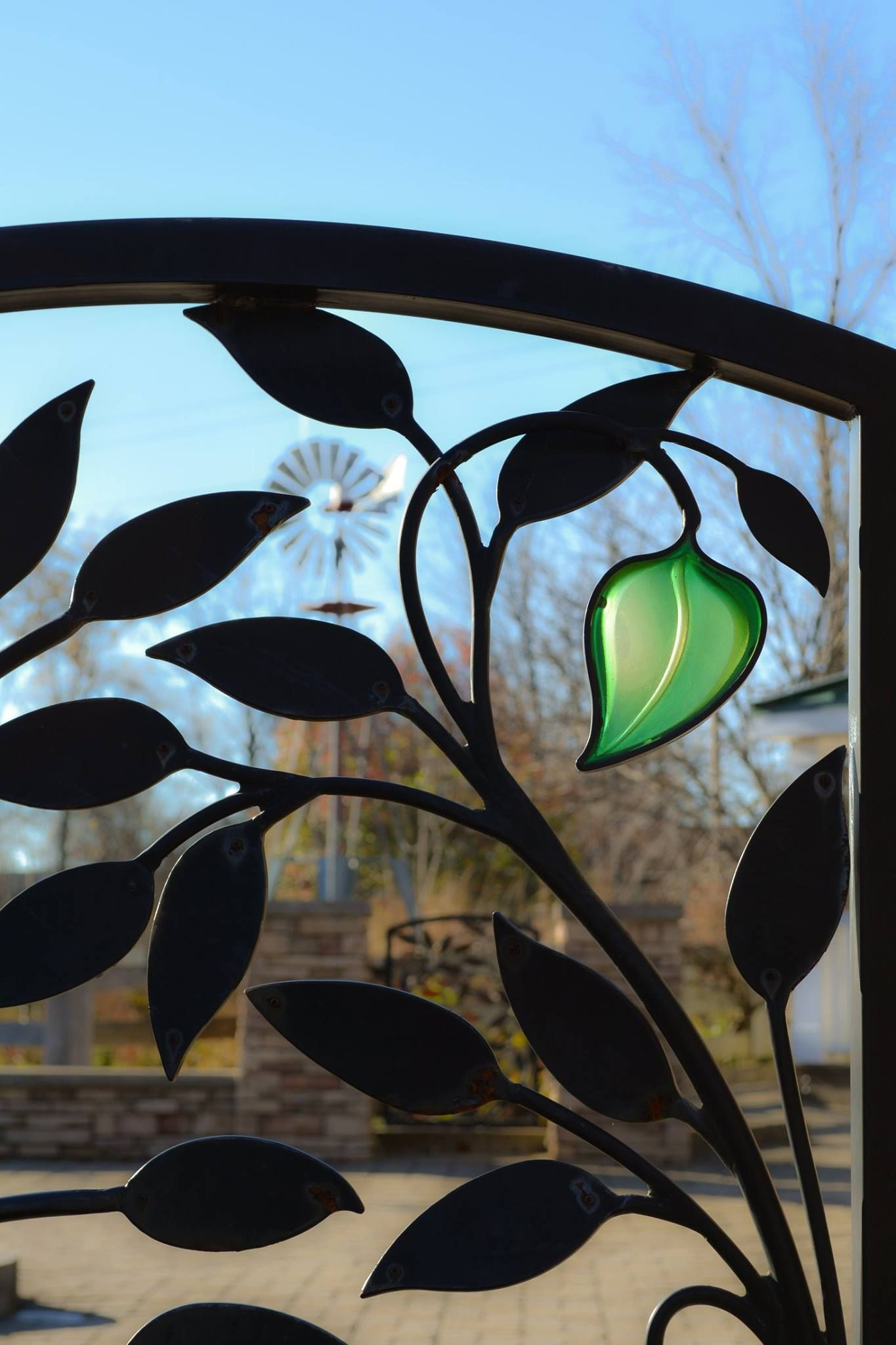 Donor Vine Garden Gate designed and fabricated for