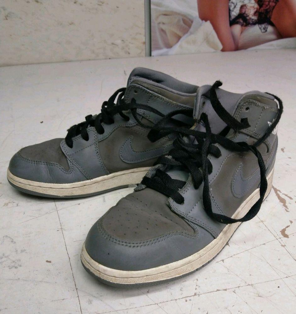 e46533927c4 Youth Air Jordan 1 Mid (GS) Big Kids Shoes Cool Grey White 554725-014 Size  5.5Y  fashion  clothing  shoes  accessories  kidsclothingshoesaccs   unisexshoes ...
