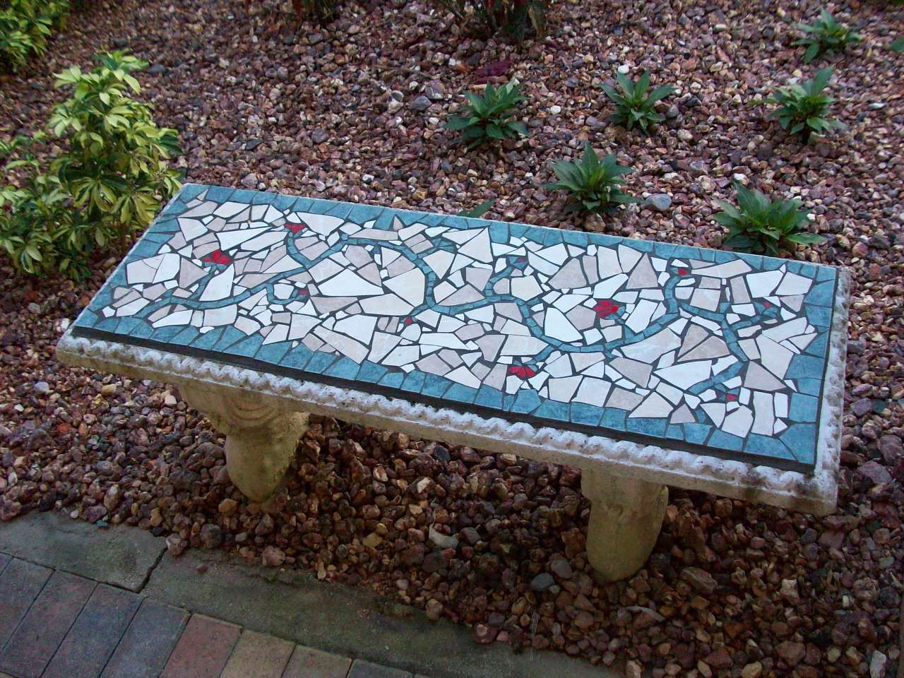Remarkable Garden Bench Mosaic Garden Art Mosaic Garden Art Mosaic Uwap Interior Chair Design Uwaporg