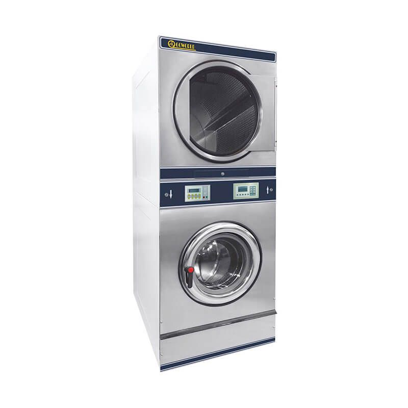 8kg 15kg Commercial Stack Washer Dryer Machine Have Washer Drum