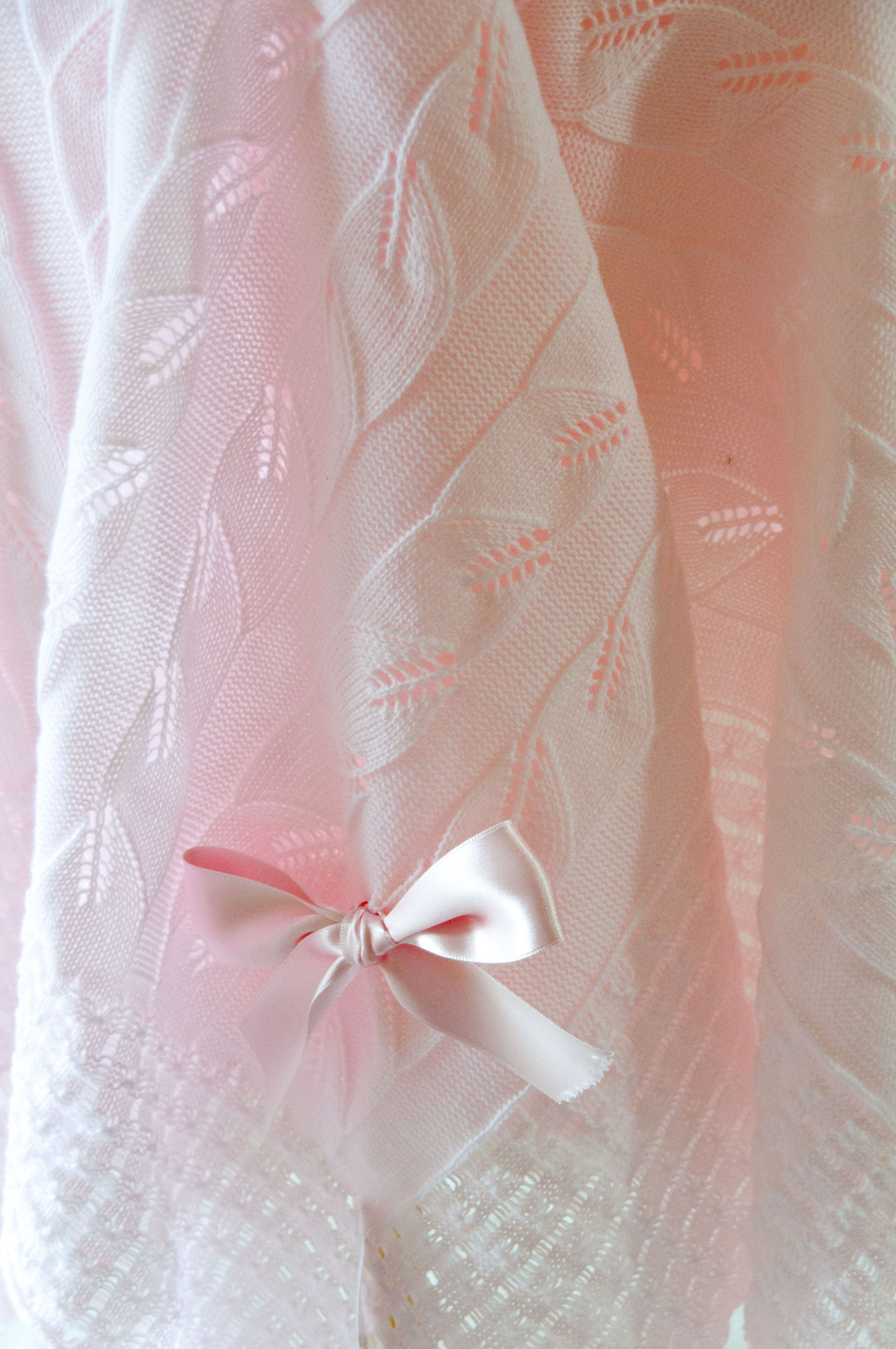 Pink Baby blanket - shawl. Wrap you baby with high quality and style!