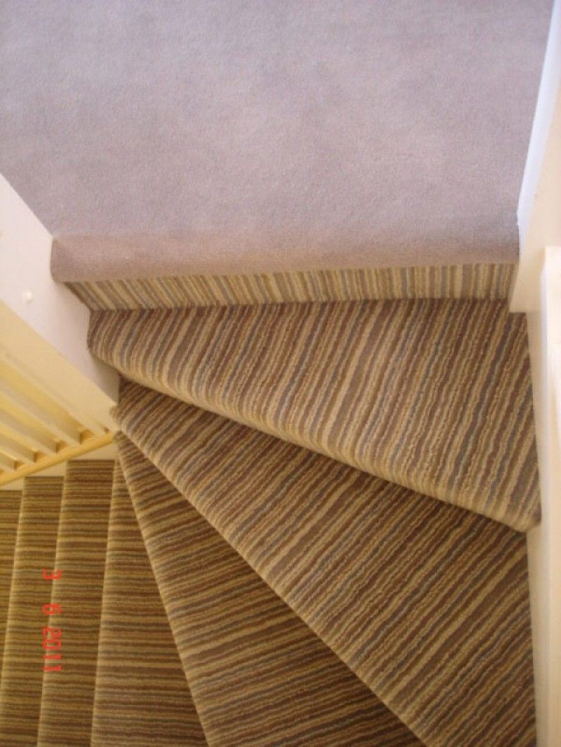 Best Another Example Of Top Of The Stairs Striped Carpet 640 x 480