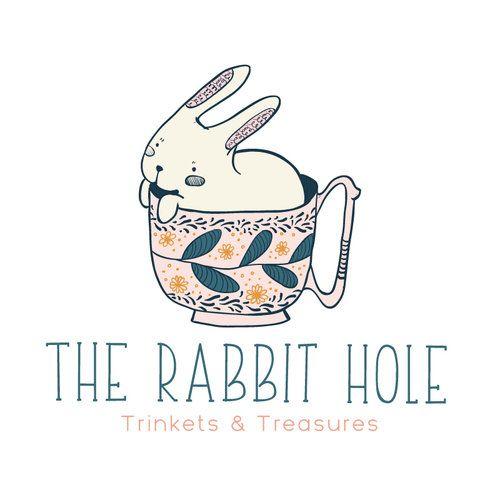 Premade Logo - Rabbit & Mug Premade Logo Design - Customized with Your Business Name!