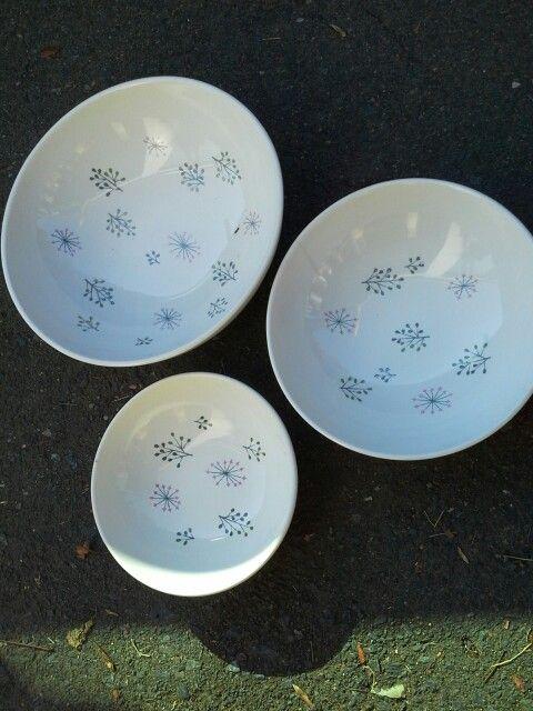 "Jeanne Wall's good china ""Echo"""
