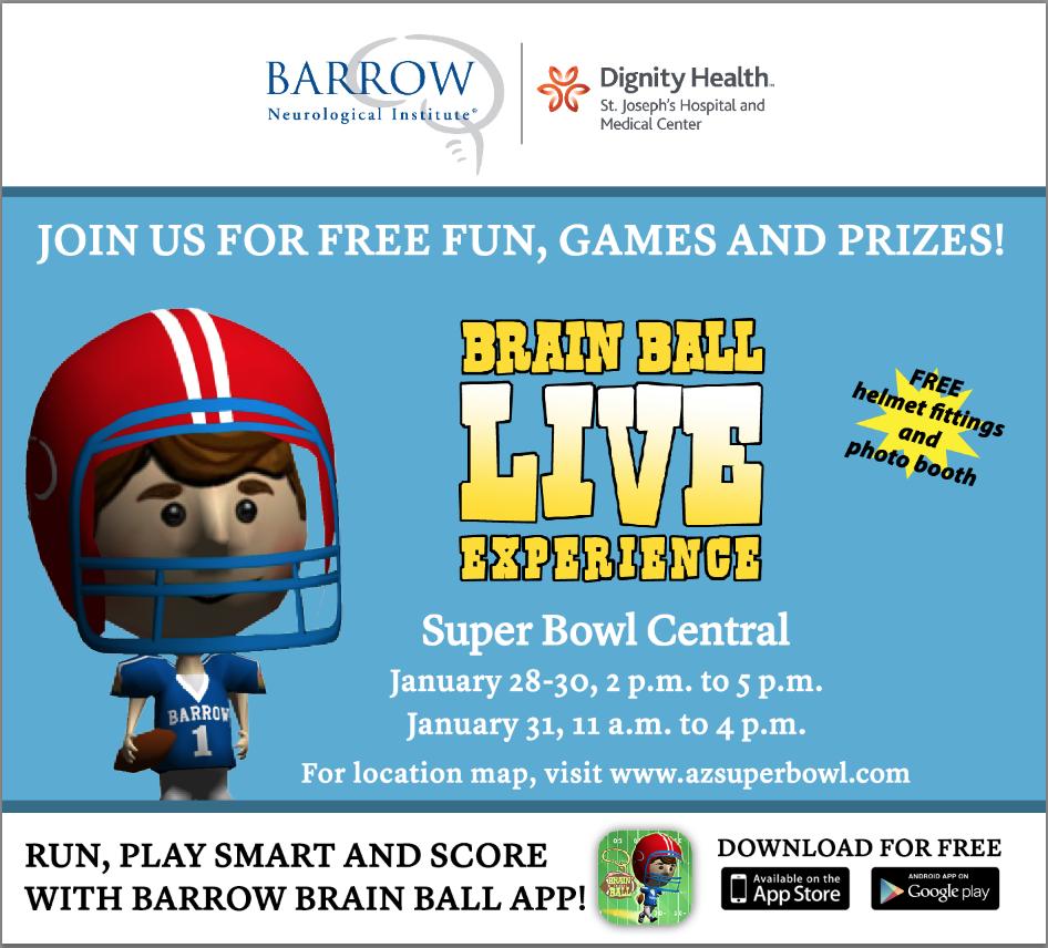 Barrow Neurological Institute is an official sponsor of